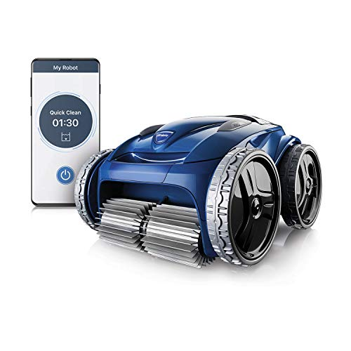 Polaris 9650IQ Sport Robotic Pool Vacuum Cleaner with App Remote Control, Extra Large Filter Canister, 70 Ft Cable & Caddy for In Ground Swimming Pool
