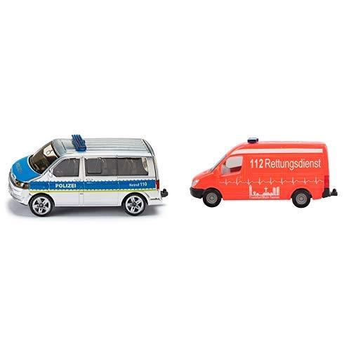 Siku 1350 Polizei-Mannschaftswagen &  0805 - Krankenwagen
