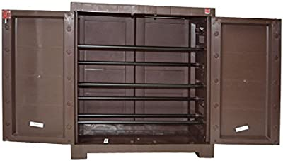 CelloNoveltyCompact Plastic Shoe Rack(Ice Brown)