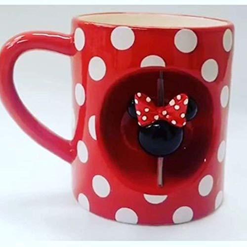 Disney Minnie Maus Rollen Becher Rot Gepunktet Tee/Kaffeetasse Primark