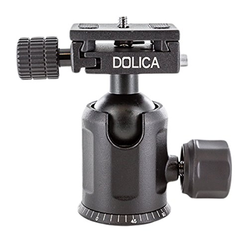 Dolica B204 Pro Level Tripod Ball Head, Black, Compact