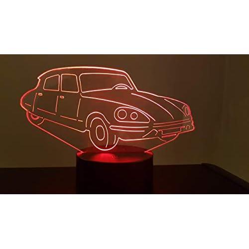 CITROËN DS, Lampada illusione 3D con LED - 7 colori.