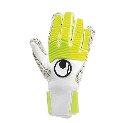 uhlsport Pure Alliance Supergrip+ Handschuhe, Guanti da Uomo. Unisex Adulto, Bianco/Giallo Fluo e Nero, 8
