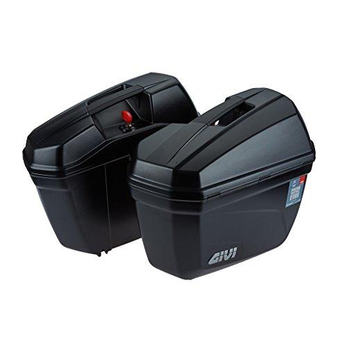 E22 Cruiser - Juego de maletas laterales Monokey negro mate/Max carga 5 kg