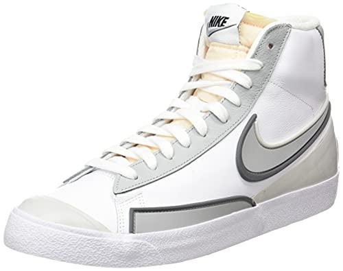 Nike Blazer Mid '77 Infinite, Zapatillas Deportivas Hombre, White Lt Smoke Grey Iron Grey Fog White Black, 42 EU