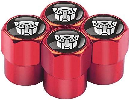 Farbname : Black Csfssd 4 PC Transformers pneumatico della ruota auto gambo di valvola auto tappo e moto Accessori for auto styling