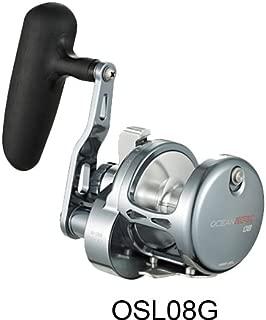 Maxel Ocean Master Lever Drag Jigging Reel Size 8 (Gunsmoke/Silver)