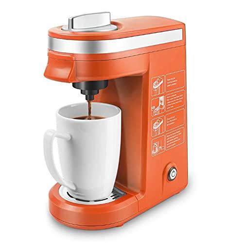 Ekspres do kawy, Capsule Capsule Express, nie zajmuje miejsca i jest łatwy w obsłudze, dla domu Brewer (Color : Orange)