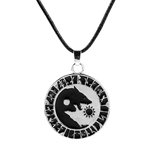 Collar Collar De Vikingo Nórdico Para Hombre, Collar Con Colgante De Cabeza De Lobo, Cadena De Cuerda, Joyería Para Mujeres, Hombres, ...