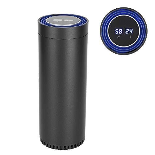 Zerodis Purificador de Aire portátil Purificador de Aire del hogar del automóvil Purificación con Temperatura Ambientador de Aire del automóvil Humedad Pantalla Inteligente Alimentado por USB