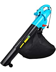 Leaf Blower, 3000W 3 in 1 Electric Air Blower Garden Blower/Vacuum Shredder Mulcher with Wheels, with 45L Collection Bag, Lightweight & Portable, 15:1 Shredding Ratio, 2m/15m/30m Cable,2m-cable