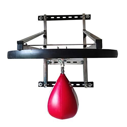 GonFan Box Speed Bag Plattform Höhenverstellbarer Box Ausdauertraining 3 Stützwellen (Color : Wood, Size : 25mm)