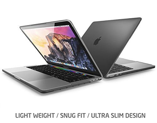 """i-Blason Halo Series Designed for MacBook Pro 15"""" Case (2019 2018 2017 2016 Release A1990/A1707), Slim Rubberized Cover with TPU Bumper for Macbook Pro 15"""" with Touch Bar and Touch ID (Frost/Black)"""