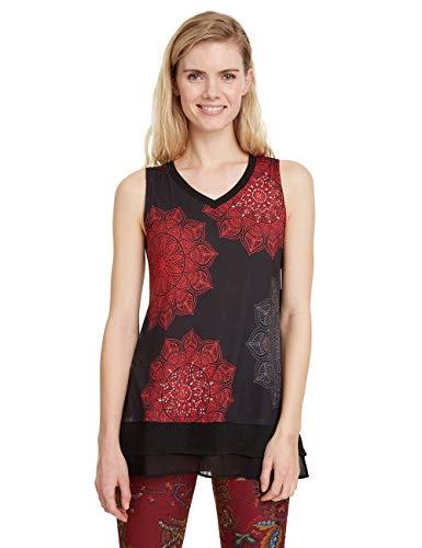 Desigual T-Shirt Clarisse Camiseta, Rojo (Carmin 3000), XS para Mujer