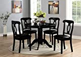 Angel Line 5-Piece Lindsey Dining Set (Black)