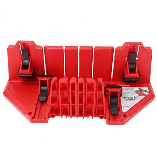 Caja de sierra de inglete, gabinete de sierra de inglete, herramienta de corte Plástico de ingeniería ABS multifunción para azulejos de madera y yeso