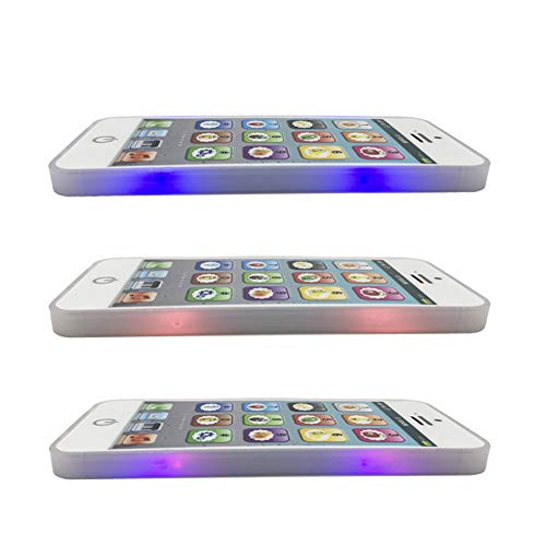 Zerodis Teléfono Celular Educativo del bebé, luz de la música del Juguete del teléfono de los niños para los niños de los niños del bebé(White, Black)