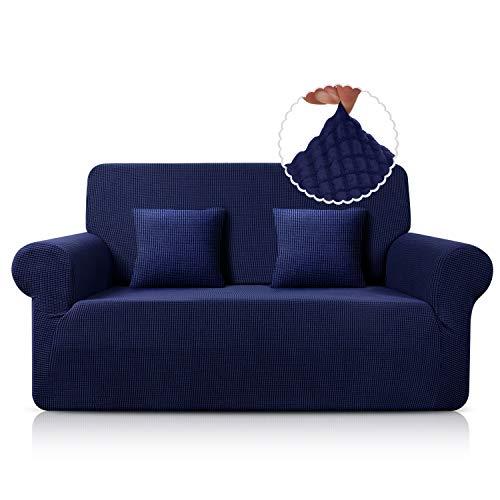 TAOCOCO Funda de Sofá/Funda de sofá Antideslizante/Funda de Fofá Elástica/Lavable/Antiácaros/Antiarrugas (Azul Oscuro,120_x_190_cm)