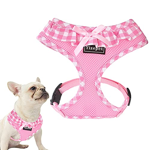 Yizepet Upgraded No Pull No Choke Dog Harnesses, Super Soft Breathable Mesh Lightweight Pet Vest Harness for Puppy Small Medium Large Dogs