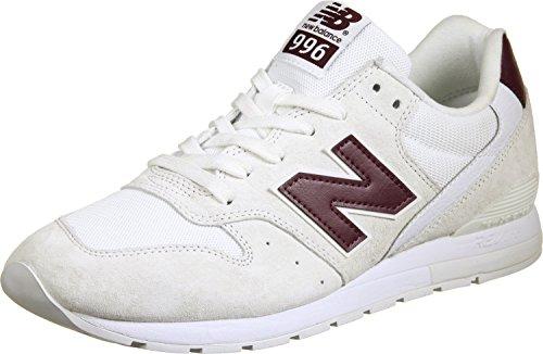 New Balance 996 - Zapatillas de piel para hombre, hombre, New Balance Mrl996, weiß / beige / rot, 39.5