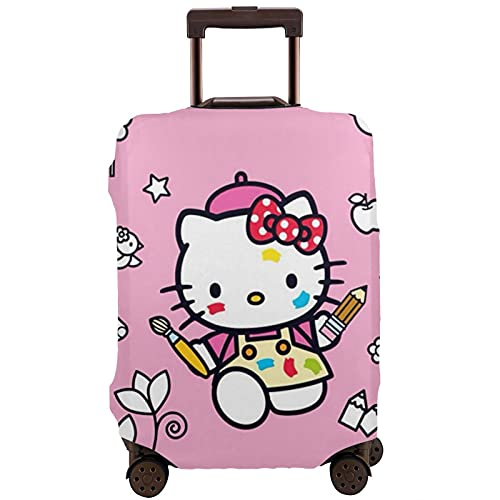 Hello Kitty - Custodia protettiva per valigia, lavabile e interessante, con elastico, bianco, M,