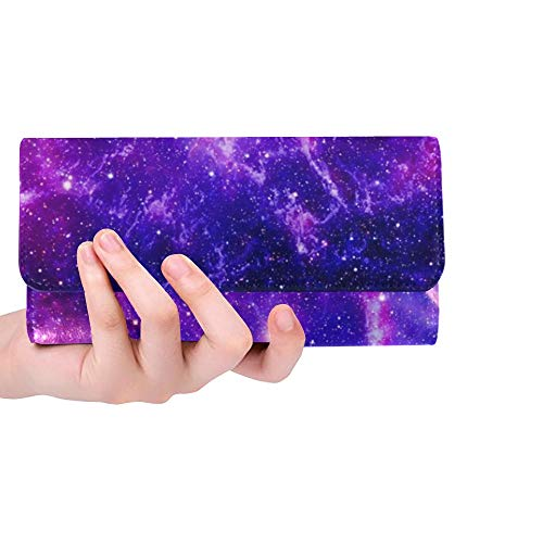 Único Customized Bursting Galaxy Elements Esta Imagen Amueblada Trifold Monedero Monedero Largo...