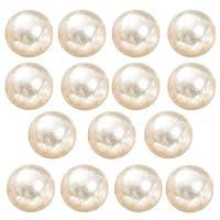 (J) 穴なし イミテーションパール (大きさ(販売個数))6.0mm(15個入り) 真珠 アクセサリーパーツ 手芸 部品 材料 資材 シンプル 球体 丸玉 ピアス ジュエリー DIY ハンドメイド