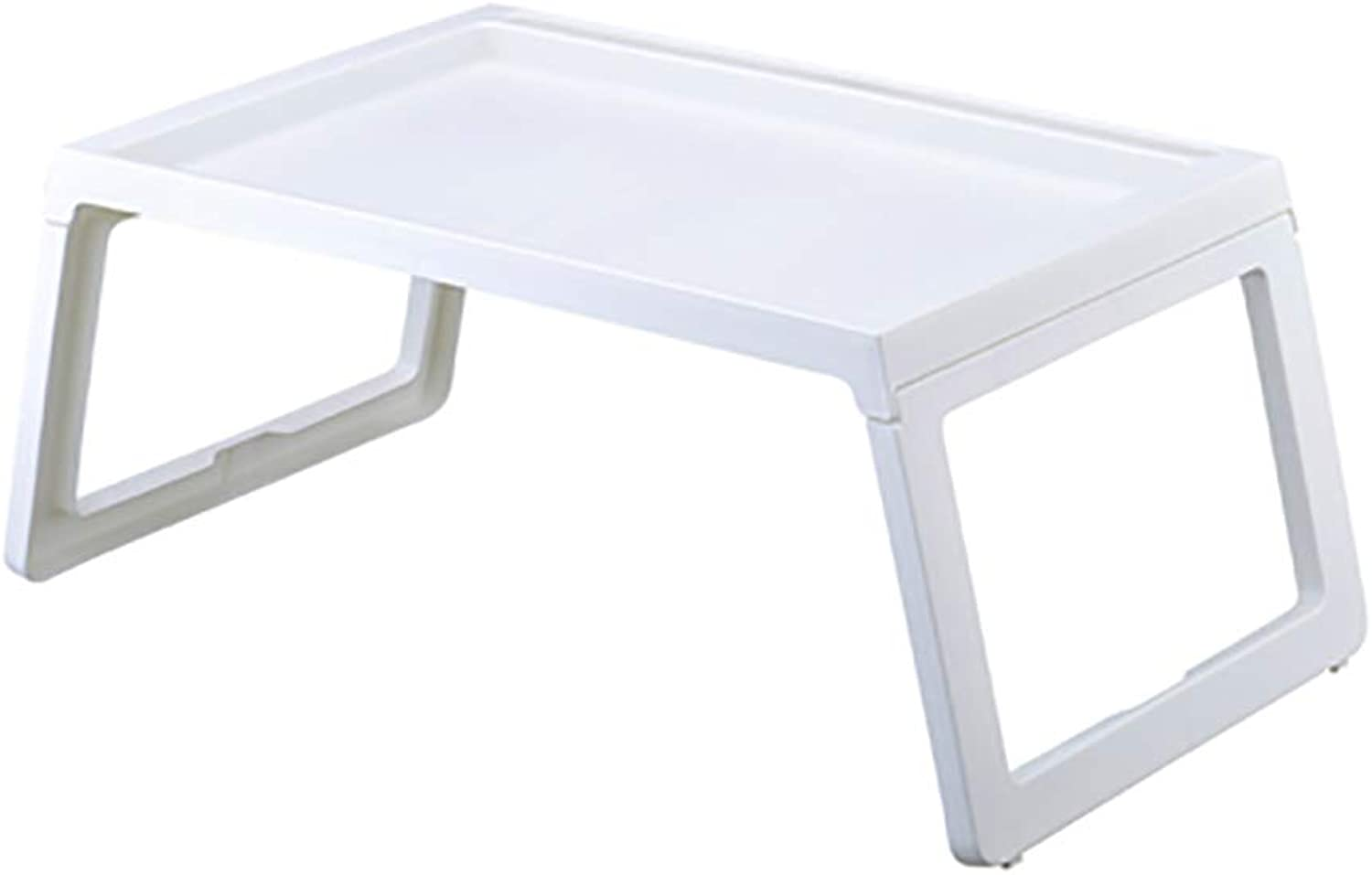 Hai Yan Portable Folding Table Folding Table - Bedroom Folding Computer Table Plastic Light Writing Desk Student Dormitory Notebook Table Bed with Lazy Table - Size  56x36x26cm (color   G)