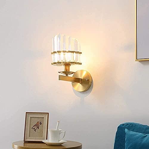 BUSUANZI Lámpara de Pared de Cristal de Cristal Creativo de Cristal de Oro, Pared de Fondo Sala de Estar Dormitorio Pared nórdico Moderno Minimalista luz luz