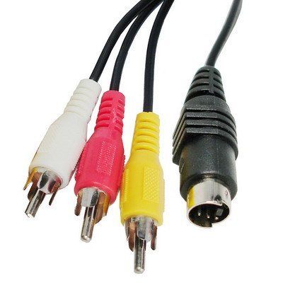 Movoja 1,5m S-Video 4-Pin auf 3X Cinch-Stecker Kabel Adapter | 4-polig S-Video-Stecker | Laptop mit 4-poliger S-Video-Buchse an Fernseher anschließen TV AV RCA Cinch Konverter
