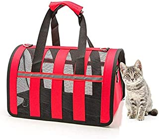 Portable pet bag for pets, foldable mesh and breathable pet hand-held messenger bag is suitable for indoor and outdoor veh...