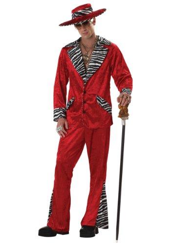 California Costumes Men's Pimp/Adult, RED, Medium