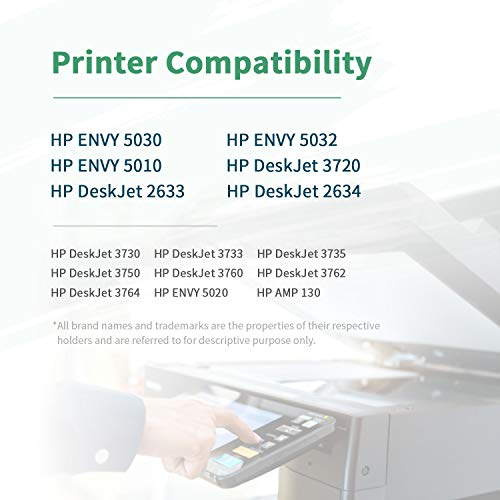ZIPRINT Compatible HP 304XL HP 304 XL Cartucho 2 Multipack para HP DeskJet 2622 2633 2634 3720 3730 3733 3735 3750 3760 3762 3764 AIO Envy 5010 5020 5030 5032 AIO AMP 130 Impresora