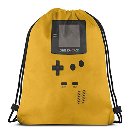 AOOEDM Video Retro Game Boy Console Sport Sackpack Drawstring Backpack Gym Bag Sack