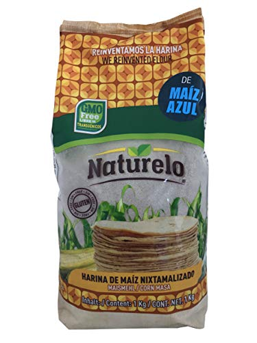 Harina de Maiz Azul Nixtamalizado NATURELO 1Kg