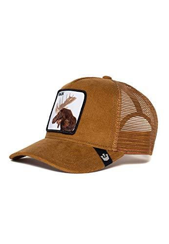 Goorin Bros. Trucker Cap Moose Head Rack Braun Whiskey, Size:ONE Size