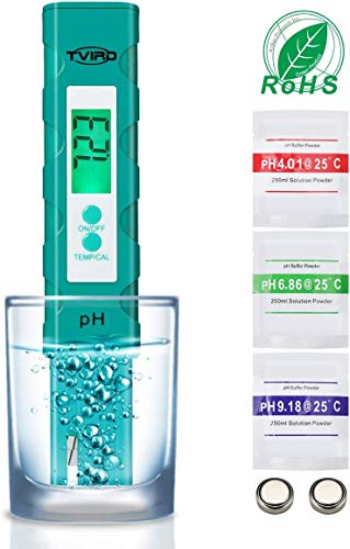 Homyl Digitales pH Messger/ät Tester//Messer f/ür Aquarium Pools,Trinkwasser Hydroponic /± 0.01pH Hohe Genauigkeit