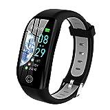 Tipmant Pulsera de Actividad, Reloj Inteligente Smartwatch Impermeable IP68 Pulsera Inteligentes con Pulsómetro Podómetro Calorías Pulsera Deporte para Android y iOS para Hombre Mujer Niños (Negro)