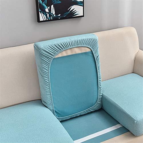 Fundas de cojín de sofá impermeables, fundas de cojín de sofá, fundas de cojín de sofá, elásticas gruesas para cojines individuales (azul claro, grande de 3 plazas)