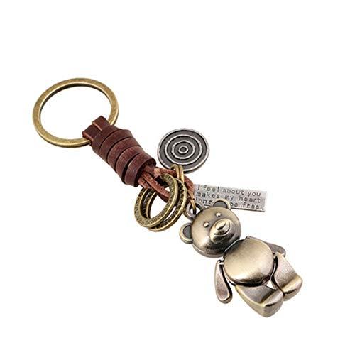 Sucolin Portachiavi Orso Portachiavi in Metallo Carino Cuoio Vintage Keychains Come Regali...