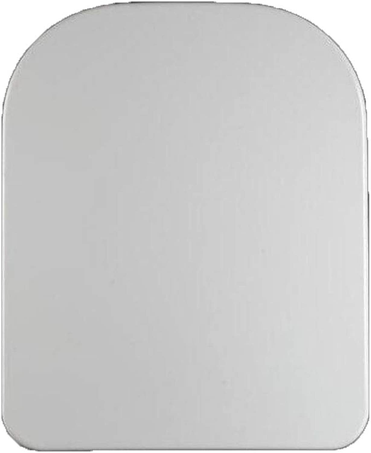 CZTC Toilet Seat Universal Toilet Lid Slow-Close White Square Easy To Install Toilet Seat Cover For Bathroom And Washroom (Size   42-47  34.5CM)