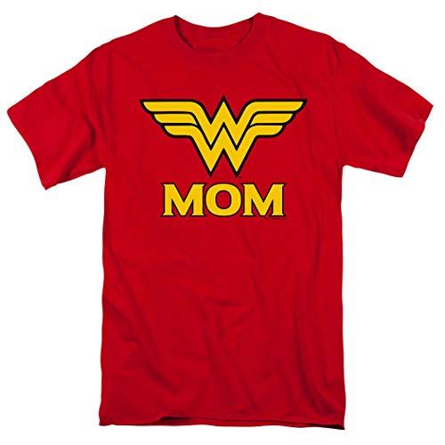 Wonder Woman Wonder Mom DC Comics T Shirt & Stickers (X-Large) Red