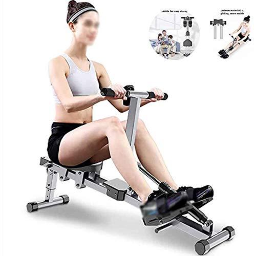 XLanY Faltbare Rudergerät, Verstellbares Rudergerät Indoor Gewicht-Verlust Und Muskel-Aufbau Bauchmuskeltraining Fitnessgeräte (Größe: 142 * 30 * 48Cm)