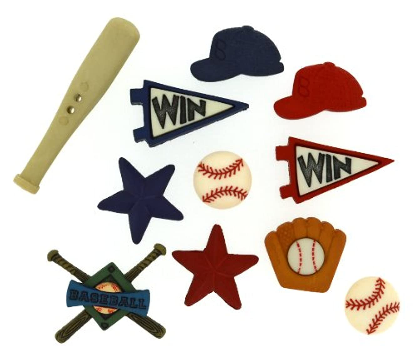Dress It Up Baseball Buttons, Varies