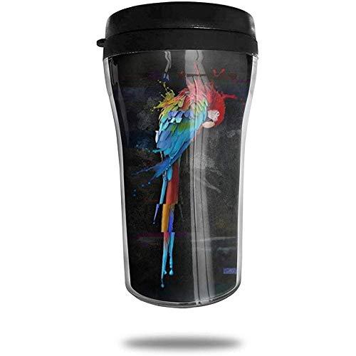 Houd er rekening mee dat vogel-reiskoffiemok draagbare vacuümschaal, geïsoleerde thee-schaal-water-flessenbeker voor het drinken bedrukt.