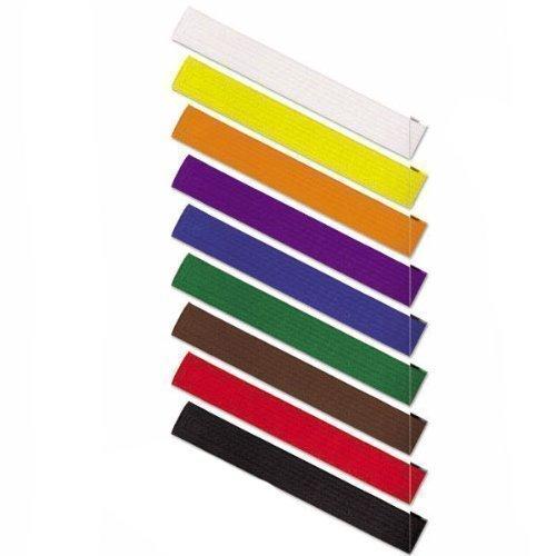Vader Sports Cinturones de Colores de Karate, Artes Marciales, algodón Judo, Karate, BJJ, Cinturones de Taekwondo (Negro, 280 cm Adultos)