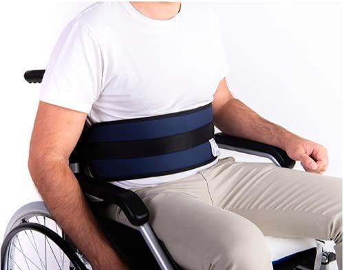 Cinturón Abdominal de Seguridad Confort para Silla de Ruedas o Silla Geriátrica - Alta Protección Anti-Caídas (Talla Universal Ajustable)