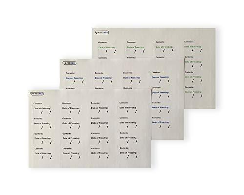Geen Fuss Labels Vriezer Stickers, Hoeveelheid van 256 Hoge Kwaliteit Vriezer Inhoud en Datum van Bevriezing Labels. Hoogwaardig product.