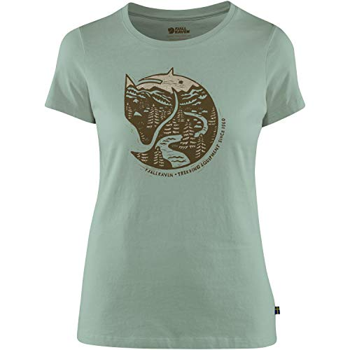 FJALLRAVEN Arctic Fox Print T-Shirt W Femme, Vert (Sage Green), L