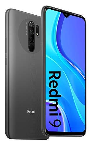 Xiaomi Redmi 9 Smartphone - RAM 3GB ROM 32GB AI QUAD CAMÉRA 6.53 Full HD+ Display 5020mAh (typ) Gris [NO NFC]